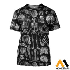 3D All Over Printed Human Anatomy Shirts And Shorts T-Shirt / Xs Clothes