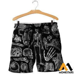 3D All Over Printed Human Anatomy Shirts And Shorts / Xs Clothes