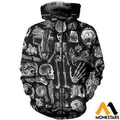 3D All Over Printed Human Anatomy Shirts And Shorts Zipped Hoodie / Xs Clothes