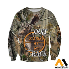 3D All Over Printed Hunt Deer Clothes Long-Sleeved Shirt / Xs
