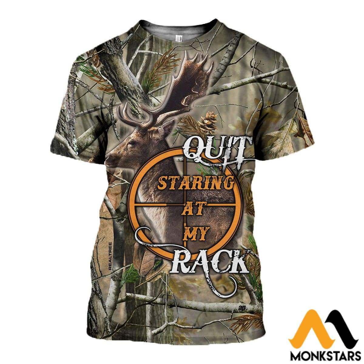 3D All Over Printed Hunt Deer Clothes T-Shirt / Xs