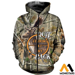 3D All Over Printed Hunt Deer Clothes Zipped Hoodie / Xs