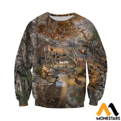 3D All Over Printed Hunting Camo Shirts And Shorts Long-Sleeved Shirt / Xs Clothes