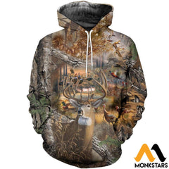 3D All Over Printed Hunting Camo Shirts And Shorts Normal Hoodie / Xs Clothes