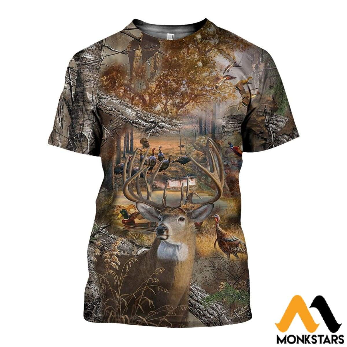 3D All Over Printed Hunting Camo Shirts And Shorts T-Shirt / Xs Clothes