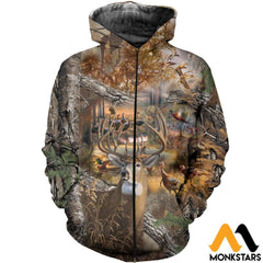 3D All Over Printed Hunting Camo Shirts And Shorts Zipped Hoodie / Xs Clothes