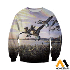 3D All Over Printed Hunting Canada Geese Shirts And Shorts Long-Sleeved Shirt / Xs Clothes
