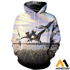 3D All Over Printed Hunting Canada Geese Shirts And Shorts Normal Hoodie / Xs Clothes