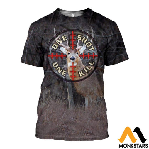 3D All Over Printed Hunting Clothes T-Shirt / Xs
