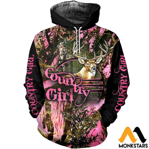 42b50ba9a485a 3D All Over Printed Hunting Deer Shirts And Shorts Normal Hoodie / Xs  Clothes