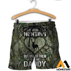 3D All Over Printed Hunting Deer Shirts And Shorts / Xs Clothes
