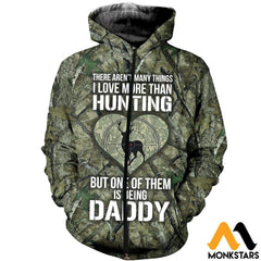 3D All Over Printed Hunting Deer Shirts And Shorts Zipped Hoodie / Xs Clothes