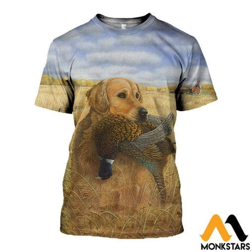 3D All Over Printed Hunting Dog Clothes T-Shirt / Xs