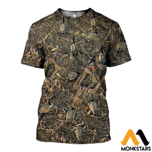 3D All Over Printed Hunting Duck Clothes T-Shirt / Xs