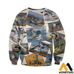 3D All Over Printed Hunting Duck Collection Shirts And Shorts Long-Sleeved Shirt / Xs Clothes