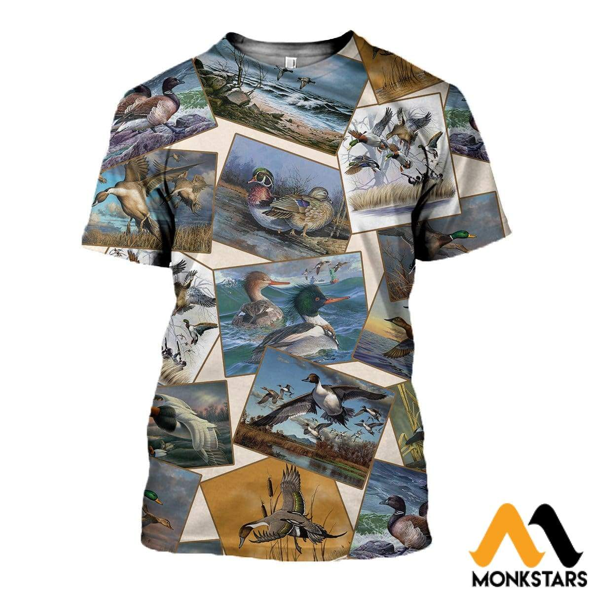 3D All Over Printed Hunting Duck Collection Shirts And Shorts T-Shirt / Xs Clothes