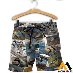 3D All Over Printed Hunting Duck Collection Shirts And Shorts / Xs Clothes