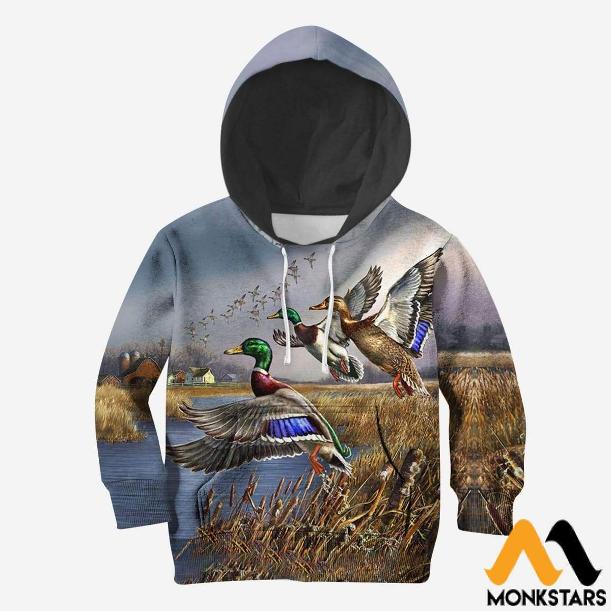 4dc3b3305230 3D All Over Printed Hunting Duck Shirts And Shorts Normal Hoodie   Toddler  2T Kid Clothes