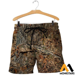 3D All Over Printed Hunting Shirts And Shorts / Xs Clothes