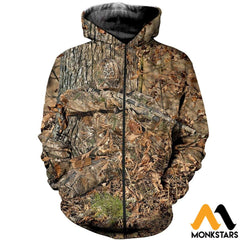 3D All Over Printed Hunting Shirts And Shorts Zipped Hoodie / Xs Clothes