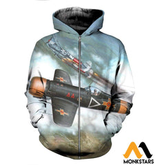 3D All Over Printed Iar 81C Clothes Zipped Hoodie / Xs
