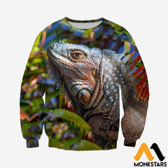 3D All Over Printed Iguana Lizard Clothes Long-Sleeved Shirt / Xs
