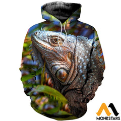 3D All Over Printed Iguana Lizard Clothes Normal Hoodie / Xs