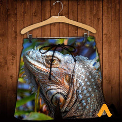 3D All Over Printed Iguana Lizard Clothes Shorts / Xs