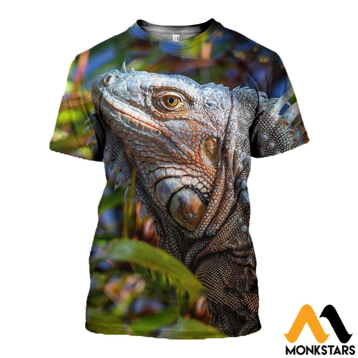 3D All Over Printed Iguana Lizard Clothes T-Shirt / Xs