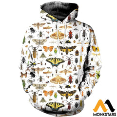 3D All Over Printed Insect Shirts And Shorts Normal Hoodie / Xs Clothes