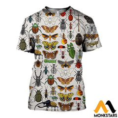 3D All Over Printed Insect Shirts And Shorts T-Shirt / Xs Clothes