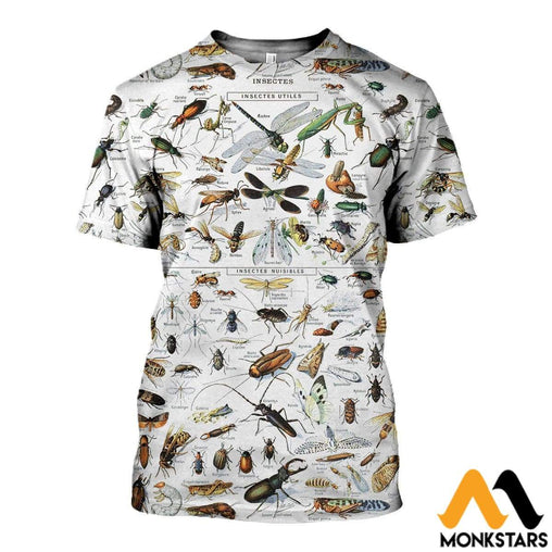 3D All Over Printed Insects Clothes T-Shirt / Xs