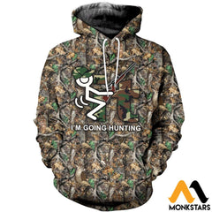 3D All Over Printed It Im Going Hunting Clothes Normal Hoodie / Xs