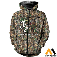 3D All Over Printed It Im Going Hunting Clothes Zipped Hoodie / Xs