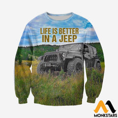 3D All Over Printed Jeep Clothes Long-Sleeved Shirt / Xs