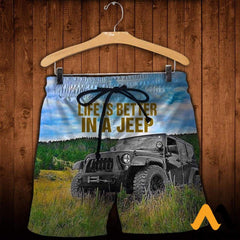 3D All Over Printed Jeep Clothes Shorts / Xs