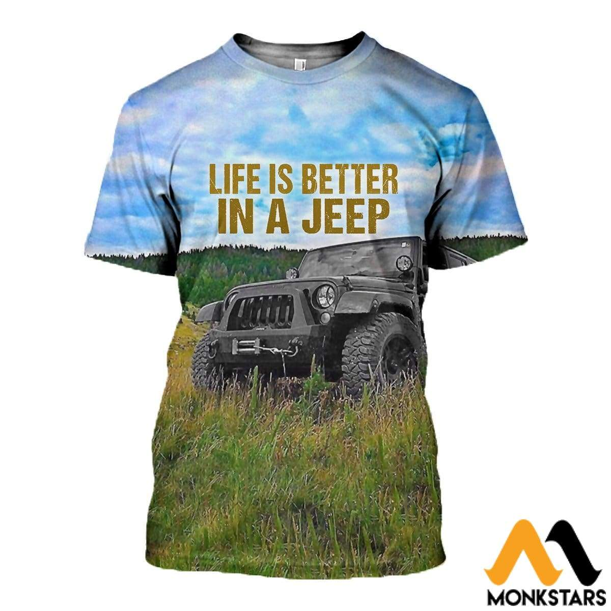3D All Over Printed Jeep Clothes T-Shirt / Xs