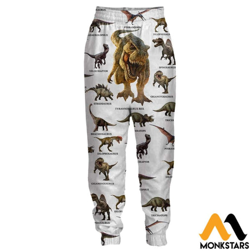 3D All Over Printed Joggers - Dinosaur S