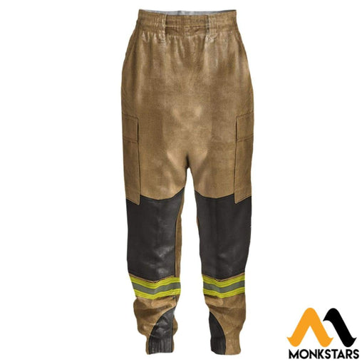 3D All Over Printed Joggers - Firefighter Suit S