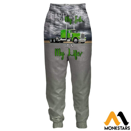 3D All Over Printed Joggers - Green Truck S