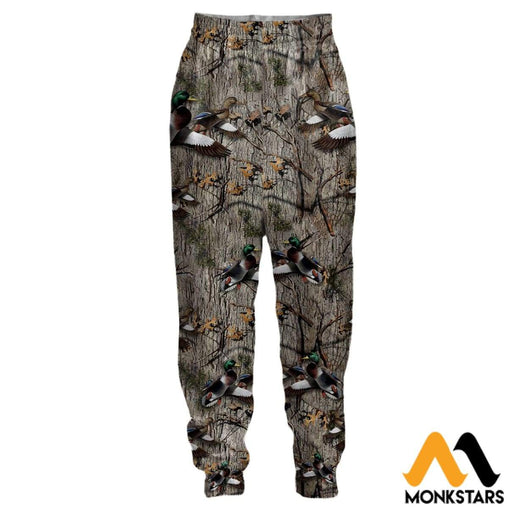 3D All Over Printed Joggers - Hunting Duck