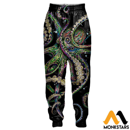 3D All Over Printed Joggers - Octopsychedelia