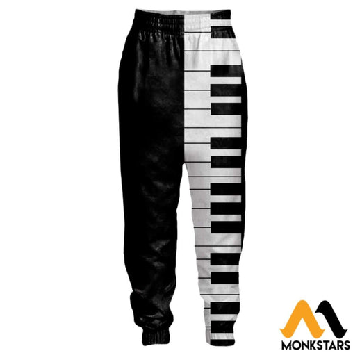 3D All Over Printed Joggers - Piano
