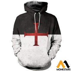 3D All Over Printed Knights Templar Flag Shirts And Shorts Normal Hoodie / Xs Clothes