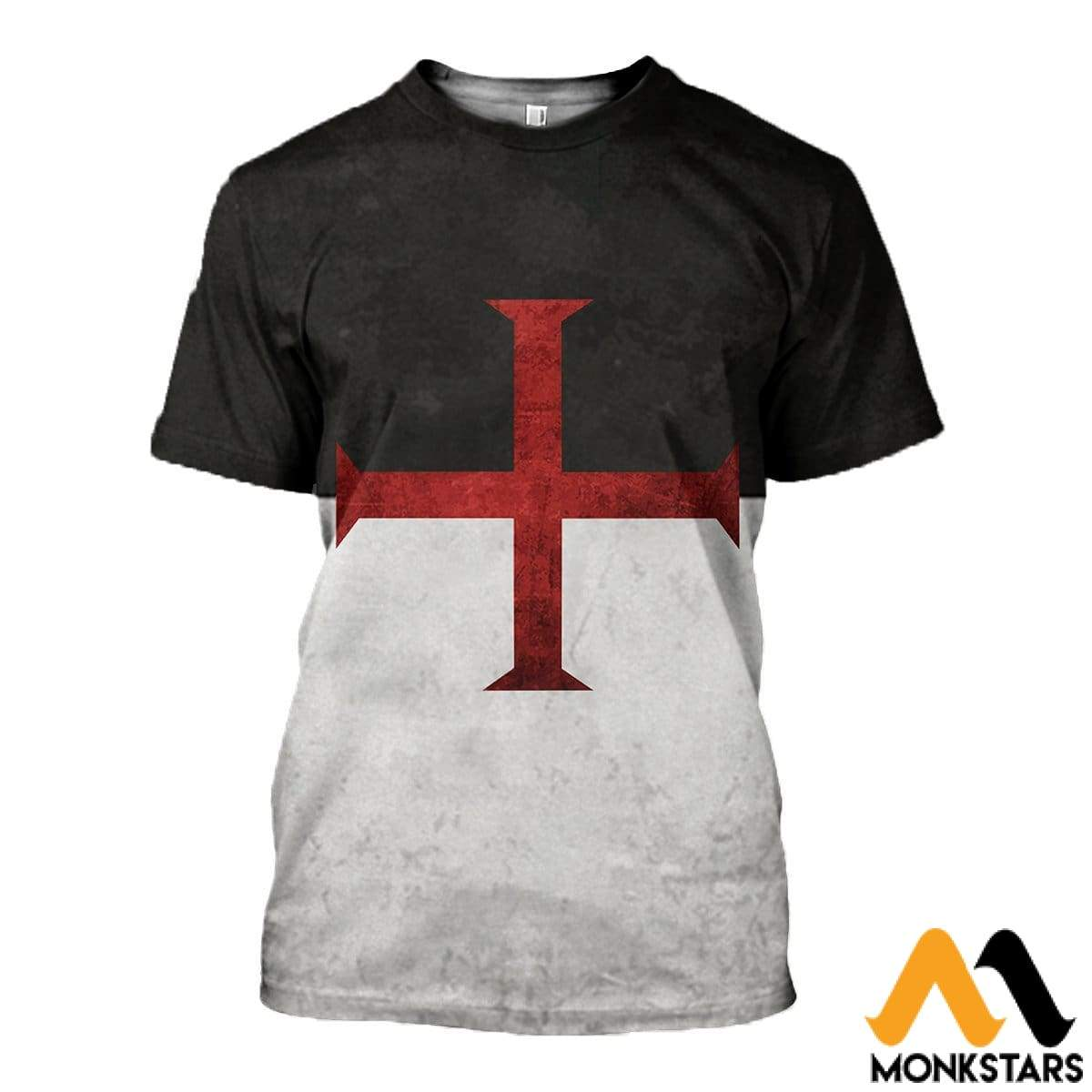 3D All Over Printed Knights Templar Flag Shirts And Shorts T-Shirt / Xs Clothes