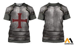3D All Over Printed Knights Templar Tops Clothes