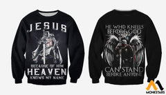 3D All Over Printed Knights Templar Tops Long-Sleeved Shirt / Xs Clothes