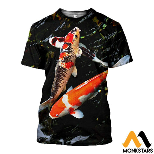 3D All Over Printed Koi Clothes T-Shirt / Xs