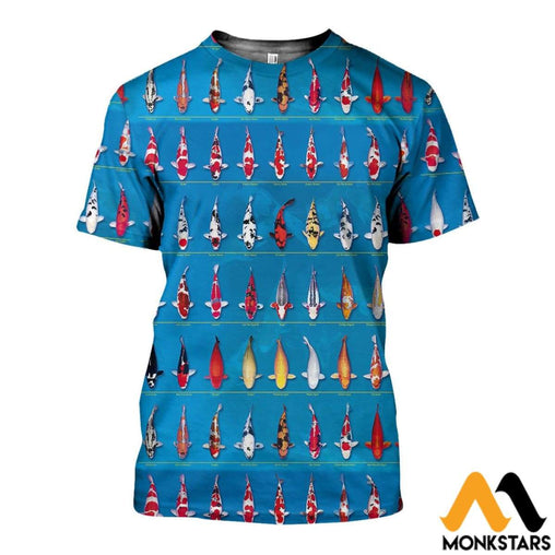 3D All Over Printed Koi Collection Shirts And Shorts T-Shirt / Xs Clothes