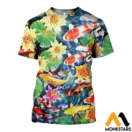 3D All Over Printed Koi Garden Shirts And Shorts T-Shirt / Xs Clothes